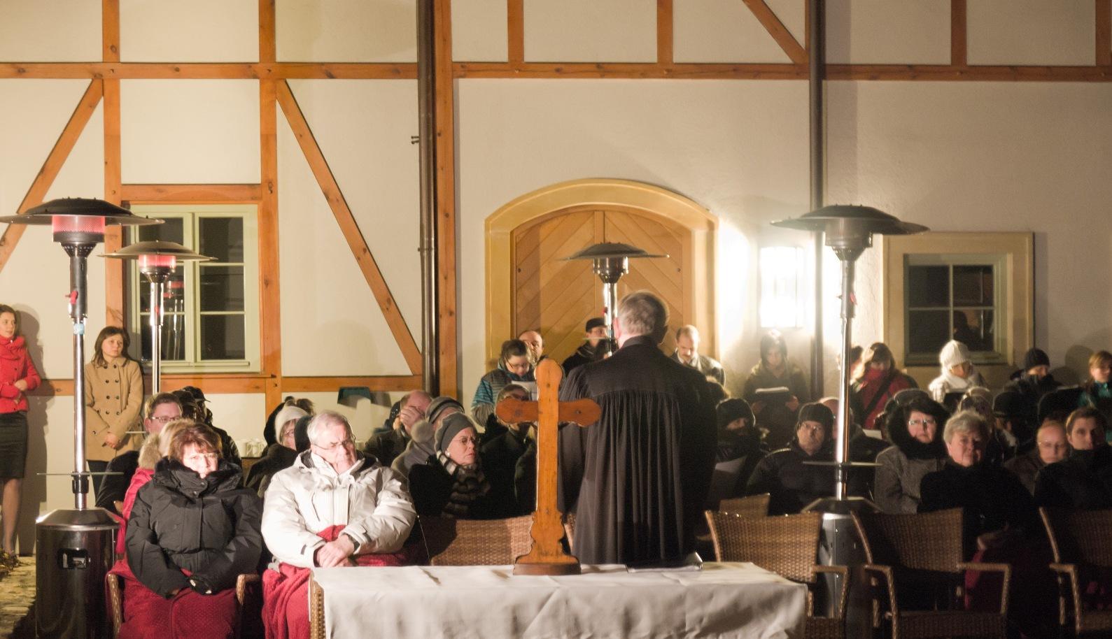 Nabożeństwo ewangelickie w Pakoszowie na Nowy Rok 2013