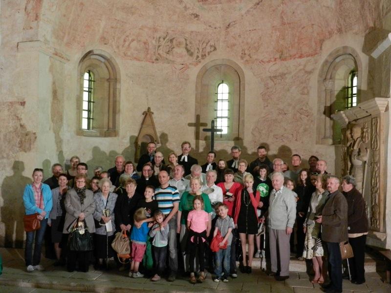 Po nabożeństwie ewangelickim w Świerzawie w Święto Wniebowstąpienia Pańskiego 2013