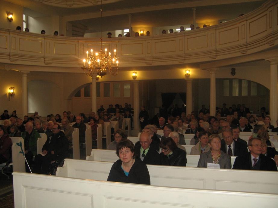 Kościół ewangelicki Opatrzności Bożej we Wrocławiu 13.10.2013 - nabożeństwo niedzielne na zakończenie zjazdu przedsiębiorców ewangelickich Europy Środkowo-Wschodniej